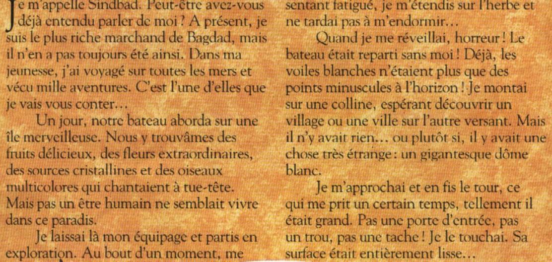 Синдбад и долина алмазов - Sinbad et la vallée des diamants, аудиосказка и текст сказки на французском языке