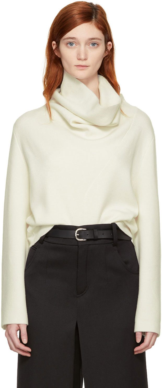 Chloe  Off-White Cashmere Turtleneck