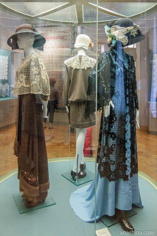 Дамские костюмы, украшенные кружевом, вологодское кружево, музей кружева, Вологда