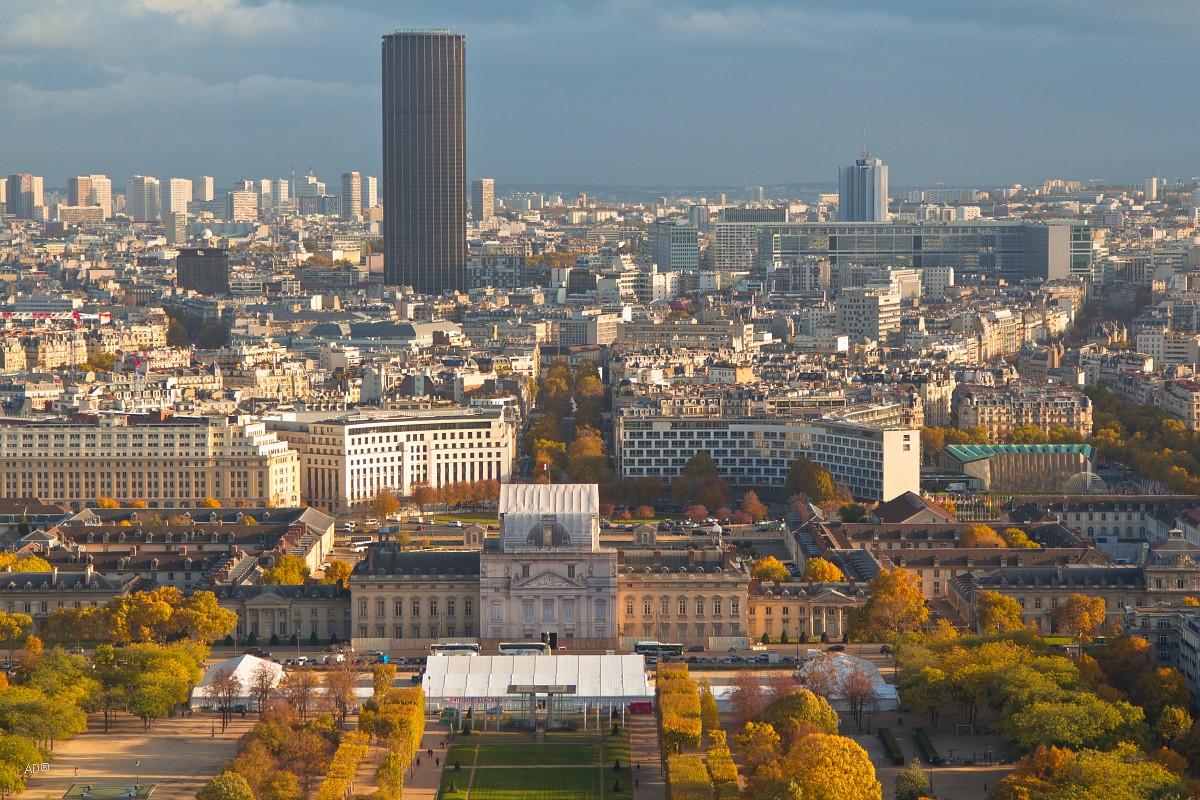 Париж - Виды с Эйфелевой башни (2-й этаж)