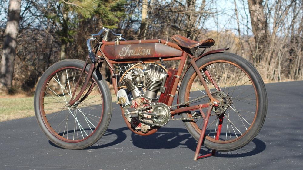 Старинный мотоцикл Indian Twin Board Track Racer 1915 (фото)