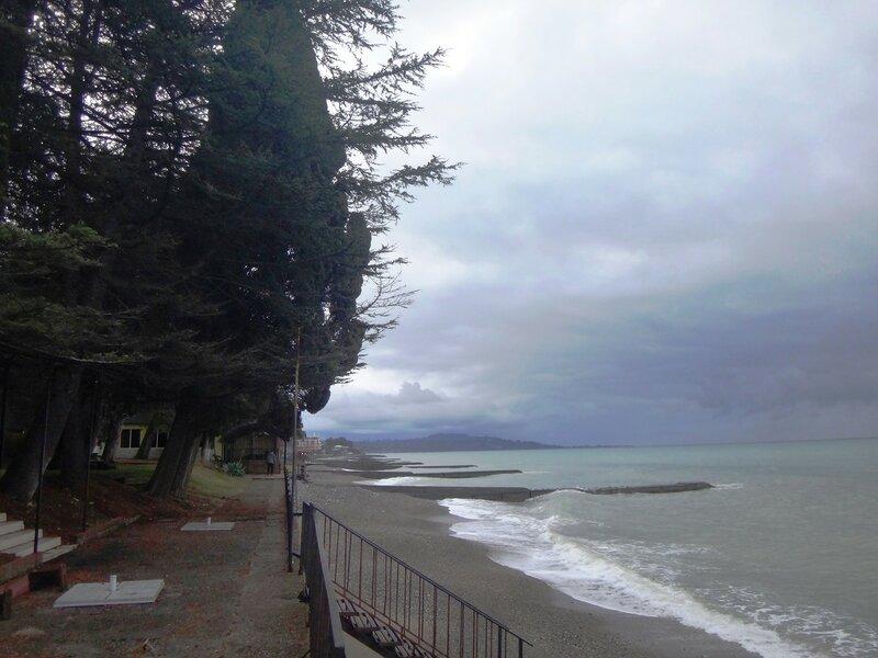 У моря Чёрного, в Абхазии, время зимнее, Новогоднее (11).JPG