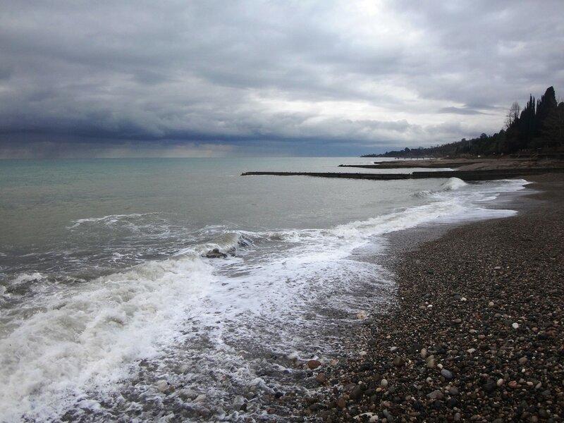 У моря Чёрного, в Абхазии, время зимнее, Новогоднее (17).JPG