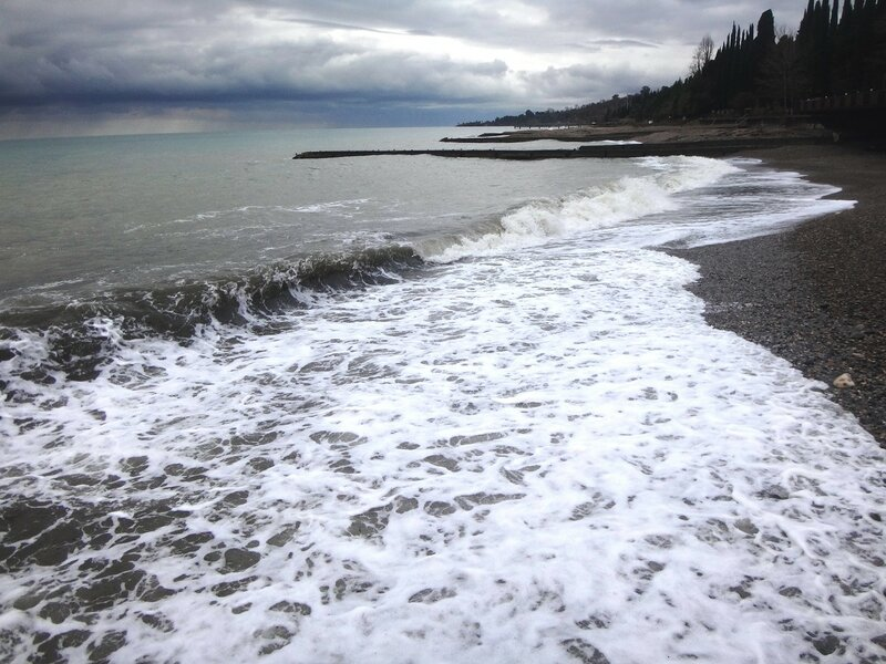 У моря Чёрного, в Абхазии, время зимнее, Новогоднее (22).JPG