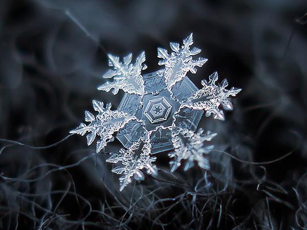 Снежинки — совершенное творение природы