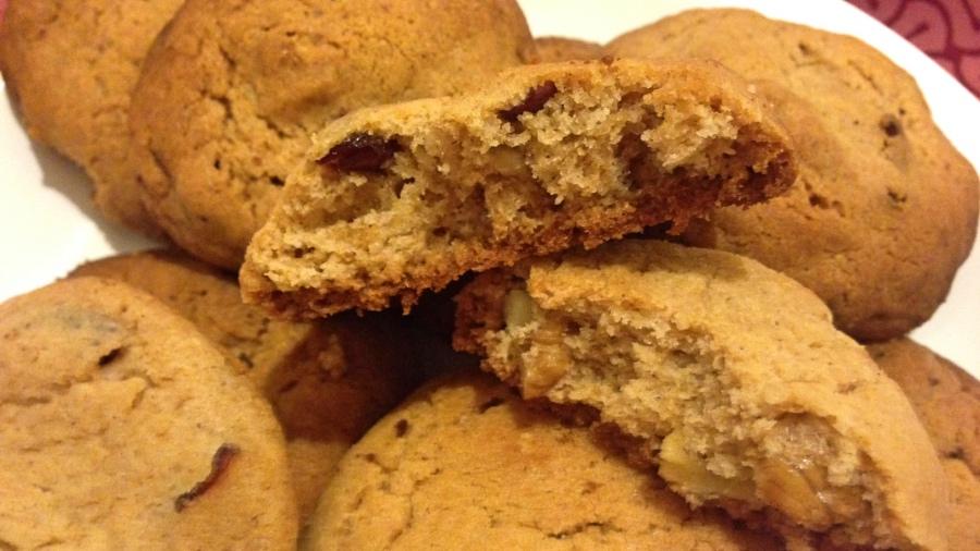 Орехово-клюквенное печенье
