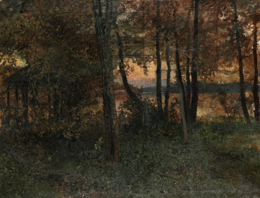 Från Bergmästaregården i Filipstad, utsikt över sjön Daglösen 1906
