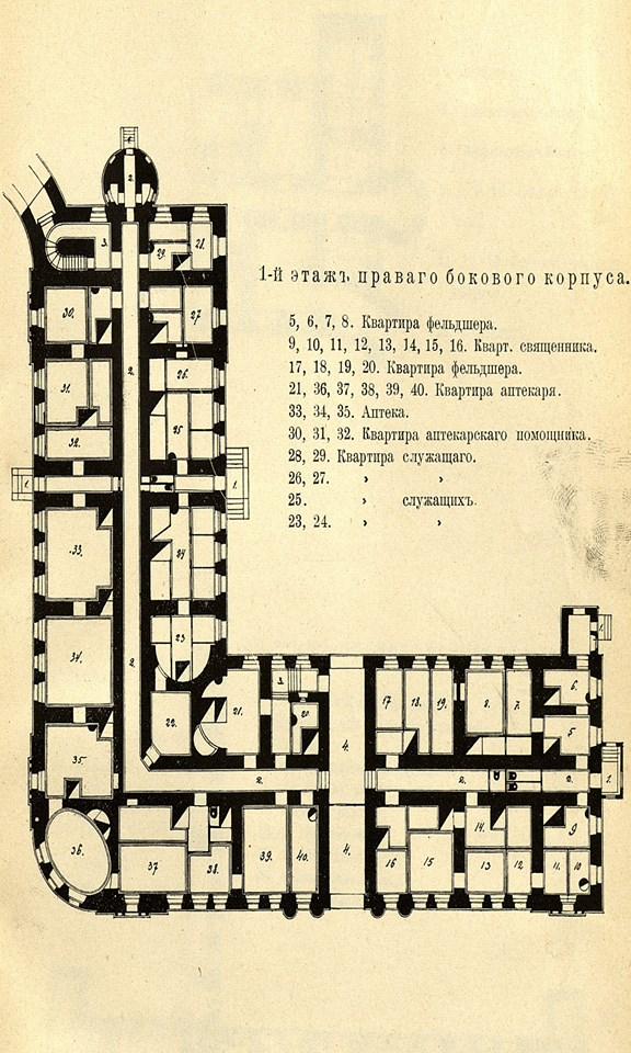 25. 1 этаж правого бокового корпуса