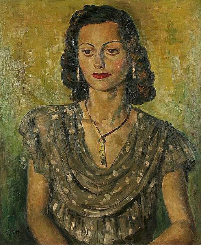 Женский портрет. Emmanuel Levy (1900 - 1986)