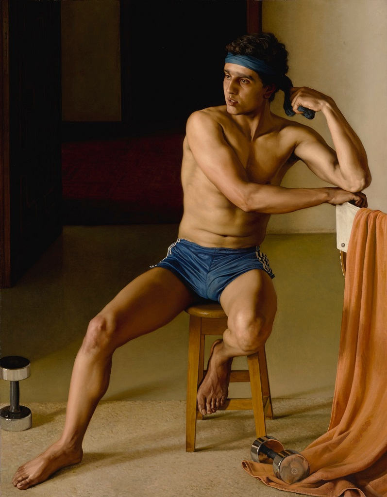 NOUREDDINE (PORTRAIT OF A YOUNG MAN)1983. Claudio Bravo, Клаудио Браво (1936-2011) Чили (797x1024)