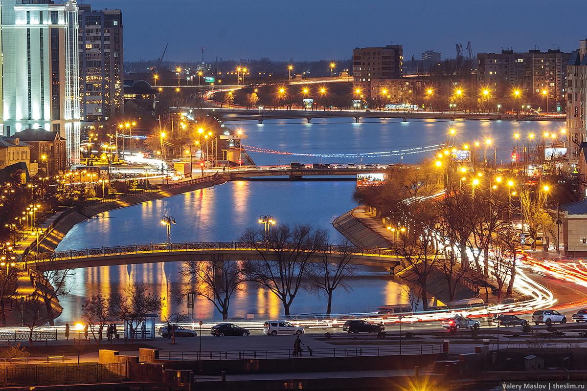 Новогодняя иллюминация Астрахани
