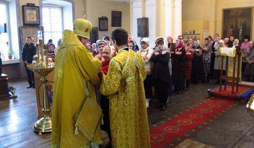 2016. Архиерейское богослужение епископа Костромского и Галичского в Солигаличе. Причастие,