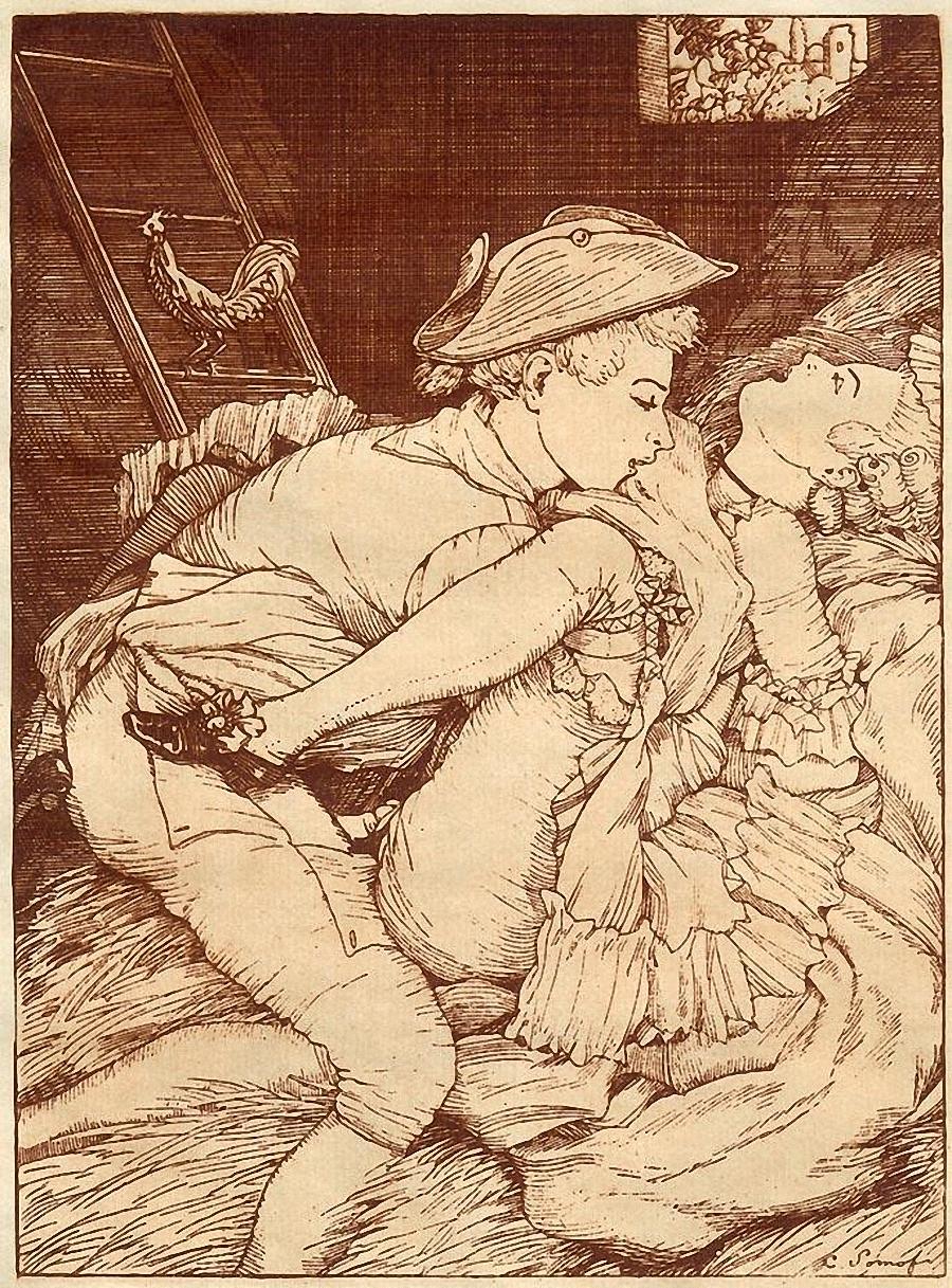 эротическая старинная графика