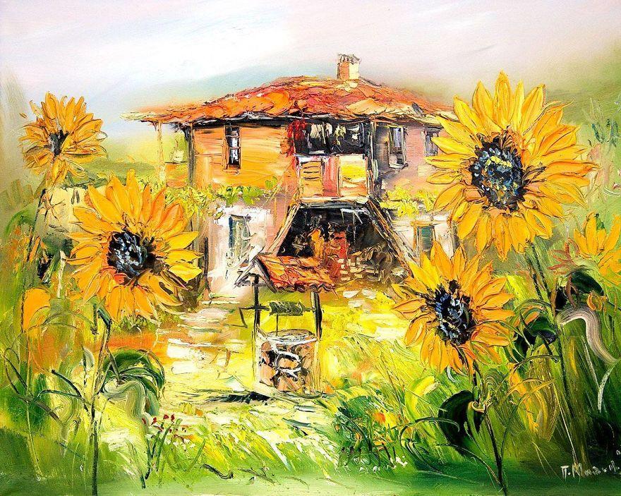 Болгарский художник пишет удивительно живые и яркие картины с домами (14 фото)