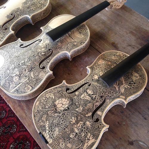 Любимый «холст» для мастера — это скрипки и виолончели. У Леонардо порой уходит до 3 недель, чтобы з