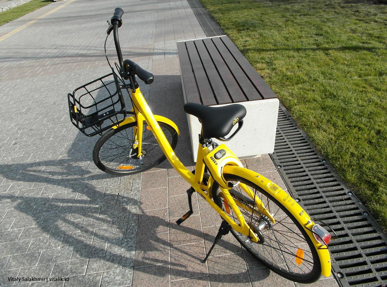 Желтый велосипед, Алматы.