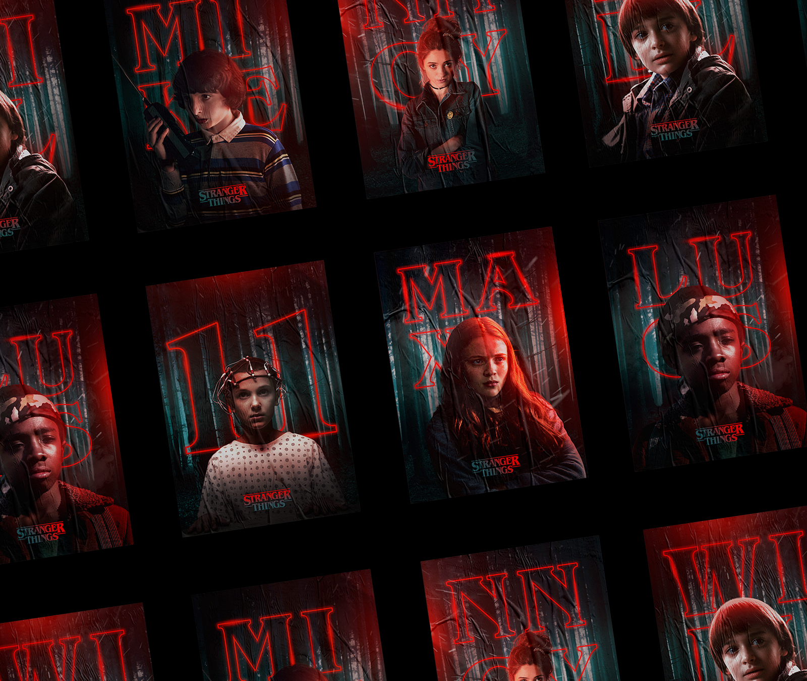 Spooky Stranger Things Characters Posters