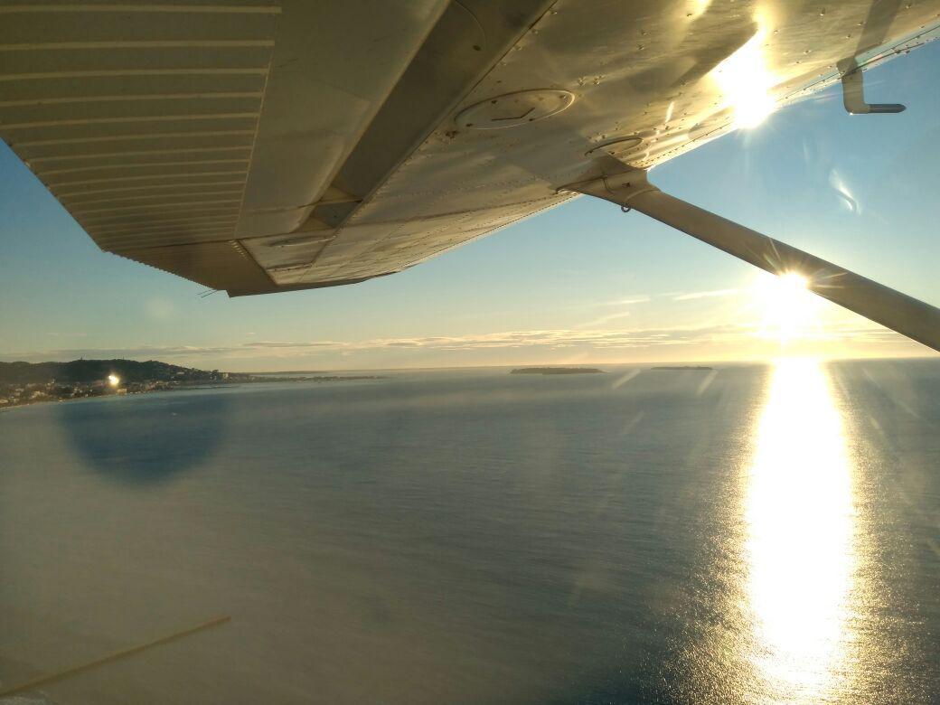 Лазурный берег с самолета