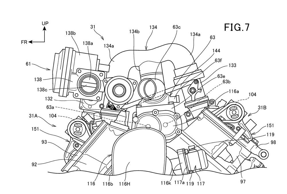 Компания Honda патентует заряженный V-Twin