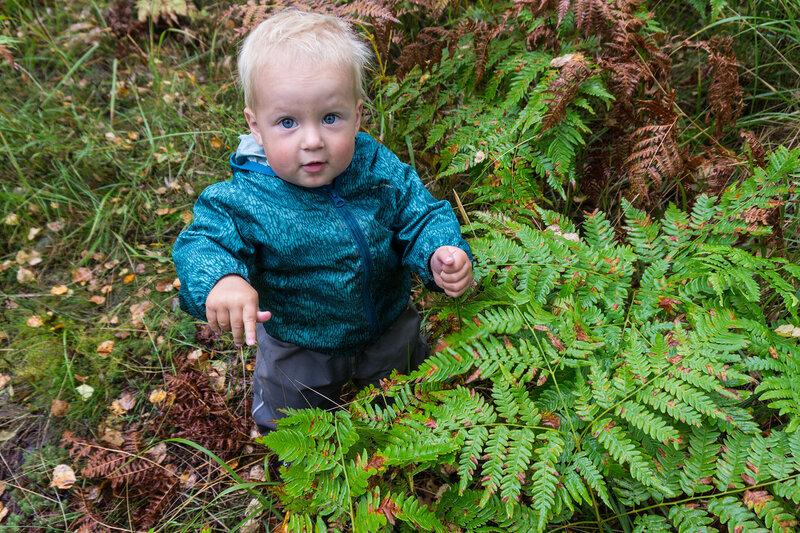 ребенок полтора года в лесу