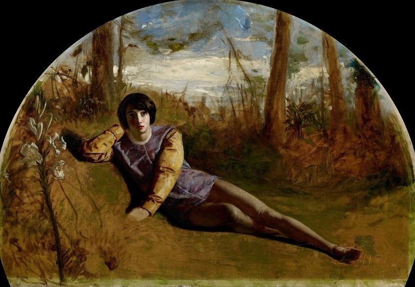 1849 (ок) Юный поэт (The Young Poet) Бирмингем, Музей и Художественная галерея