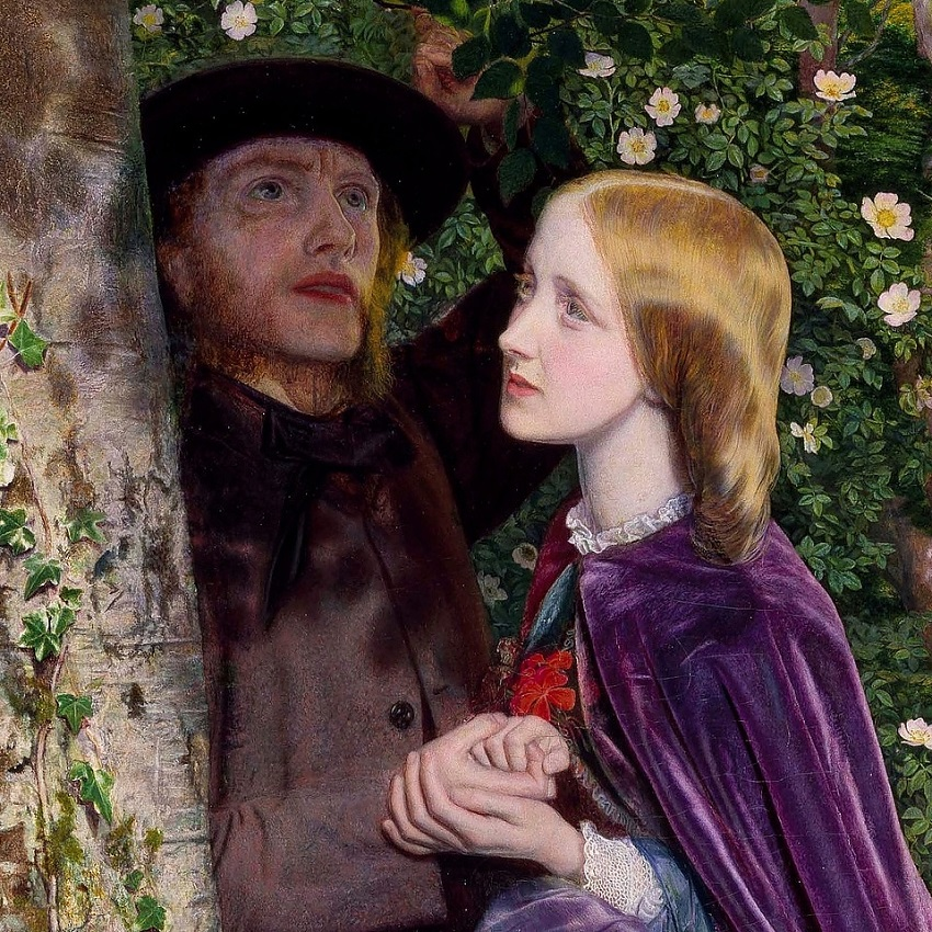 1859 Долгое обещание (The Long Engagement) Бирмингем, Музей и Художественная галерея (деталь)