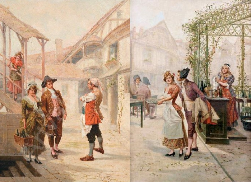 Scènes galantes (pair), 1900