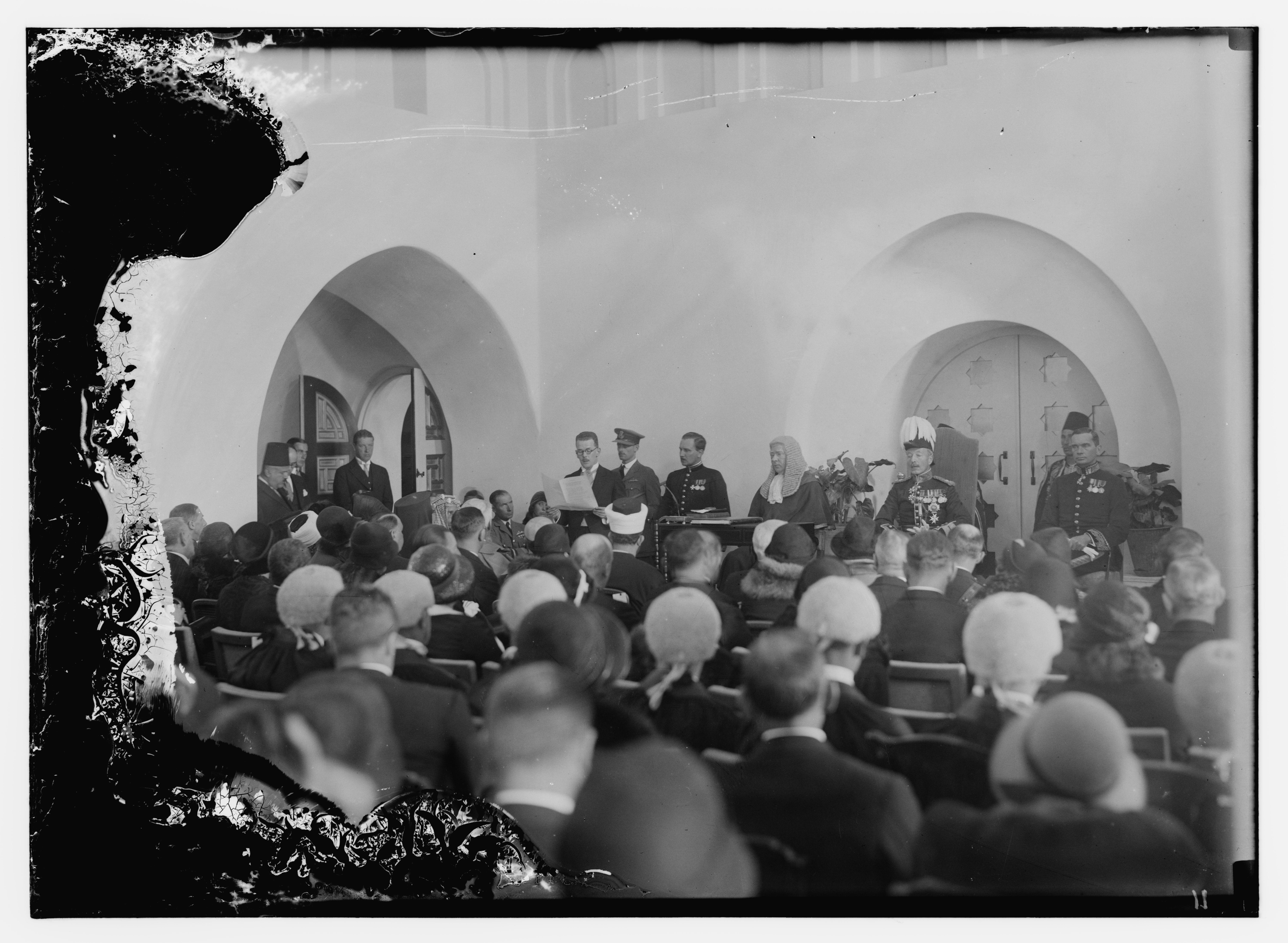 1931. Прибытие сэра Артура Гренфелла Уоучопа в качестве Верховного комиссара Палестины