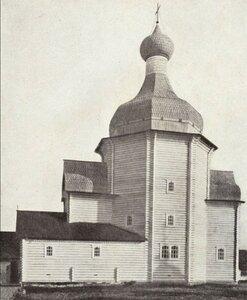 Окрестности Холмогор. Село Зачачье, новый Никольский храм