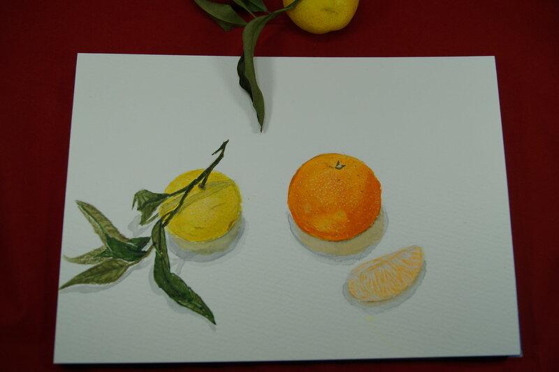 Чем рисовать на мандаринах