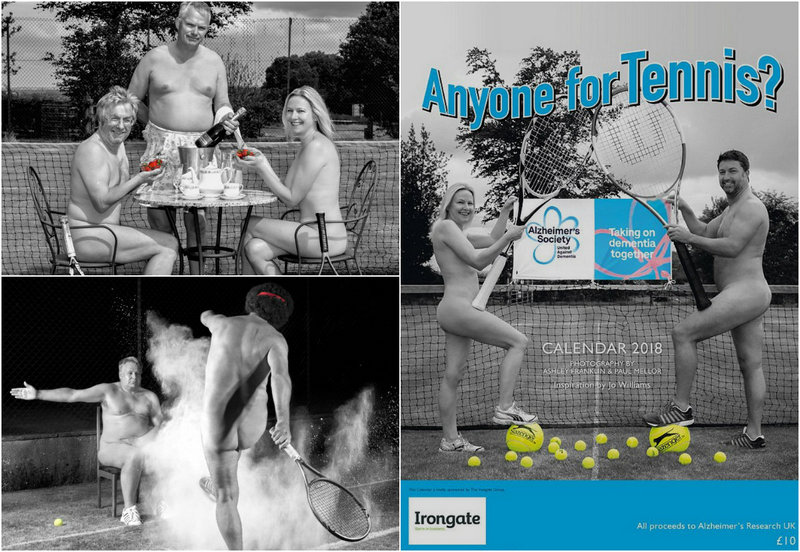 Члены теннисного клуба разделись для благотворительного календаря