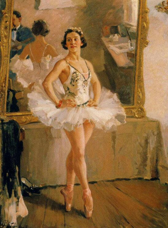 герасимов Портрет балерины Ольги Лепешинской (1939)