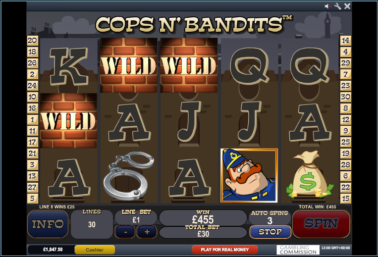 cops and bandits slot wild symbol
