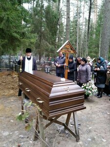 Лития на кладбище