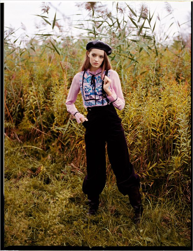 shirt and pants: Temperley shoes: Aquazzura beret: Dior