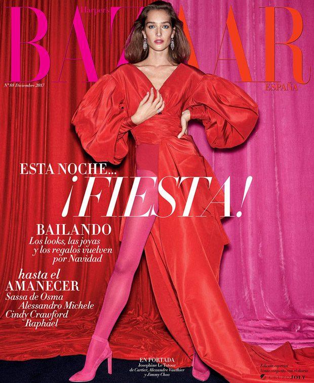 Supermodel  Josephine Le Tutour  takes the cover story of  Harper's Bazaar Spa