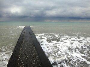 У моря Чёрного, в Абхазии, время зимнее, Новогоднее (21).JPG
