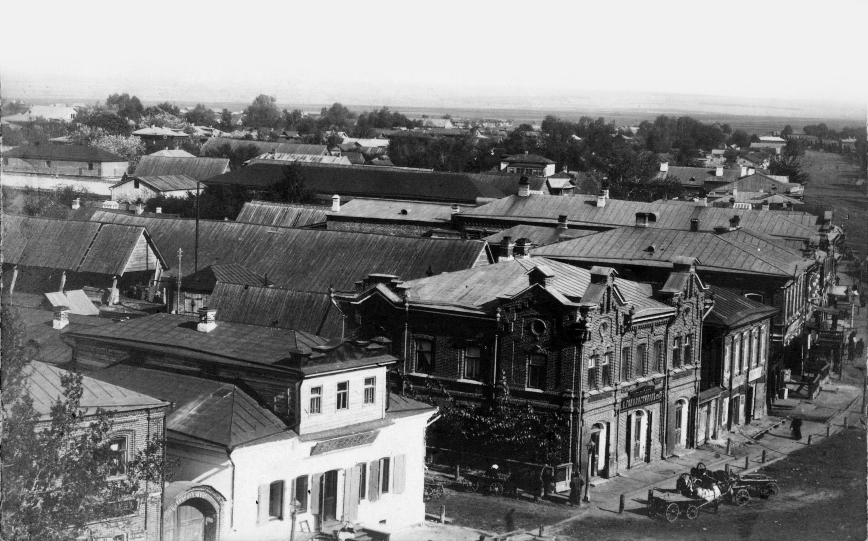 Александровская улица с колокольни церкви Воскресения Христова