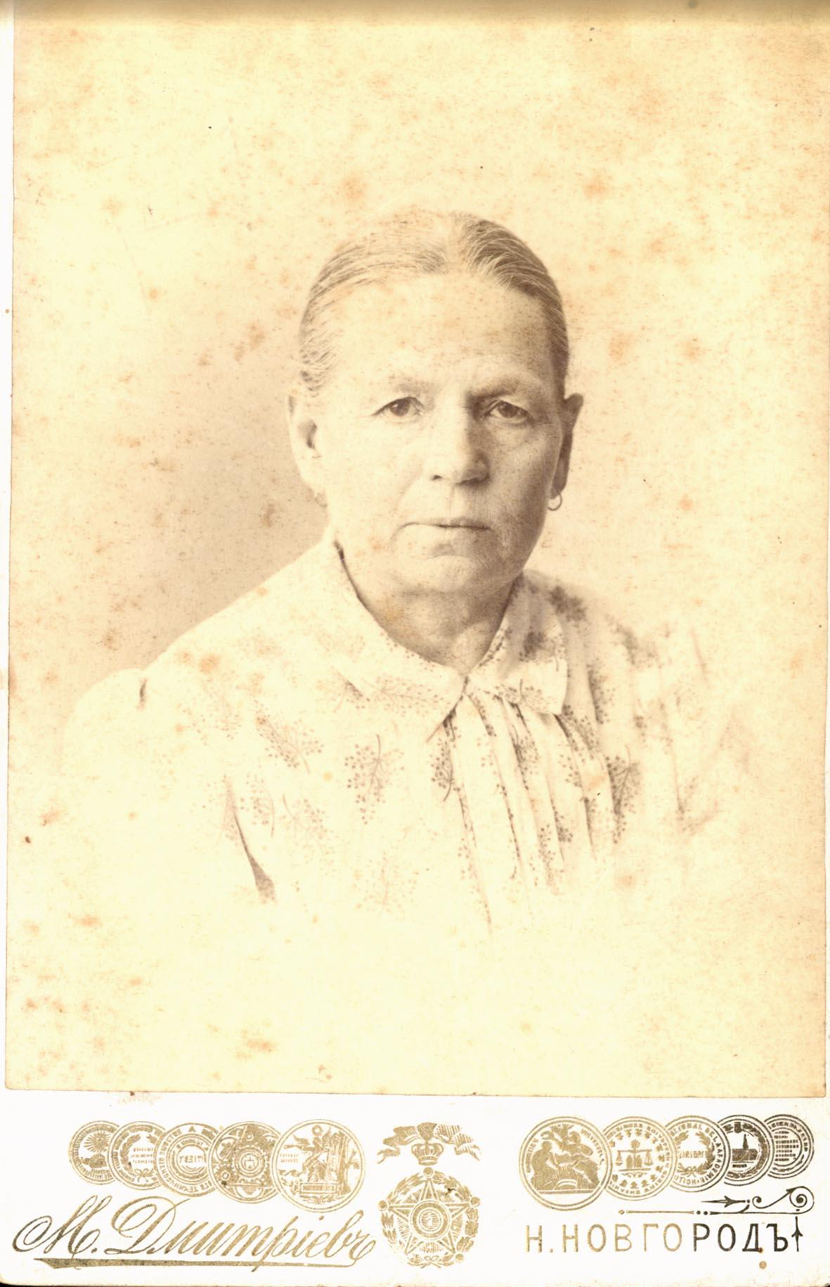 Портрет Анны Михайловны Городецкой (мать жены М.П. Дмитриева)