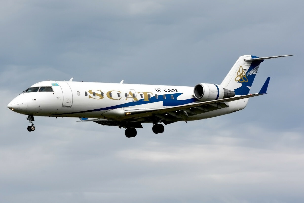 Bombardier CRJ-200LR. Scat Air Company. UP-CJ008.