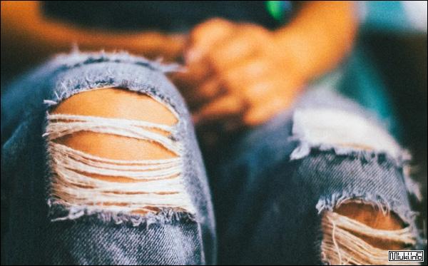Как бабуля из Японии зашила модные рваные джинсы