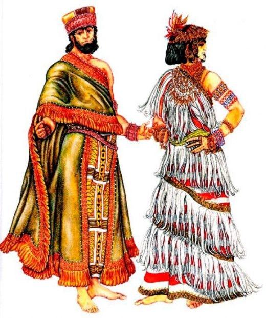 Вплоть до Средневековья юбки и платья разного вида и из разных материалов повсеместно были частью му