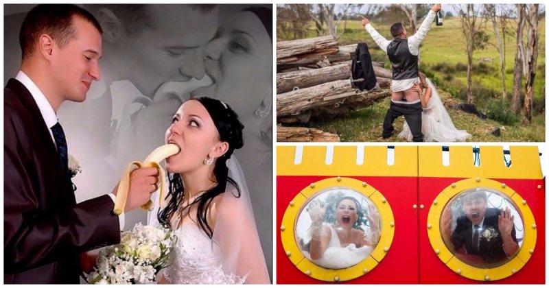 Свадебные кадры, над которыми можно от души посмеяться (32 фото)