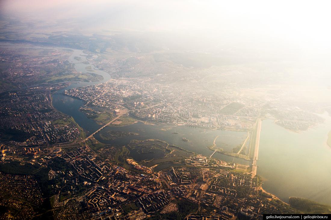 Иркутск. Фотографии из окна самолета