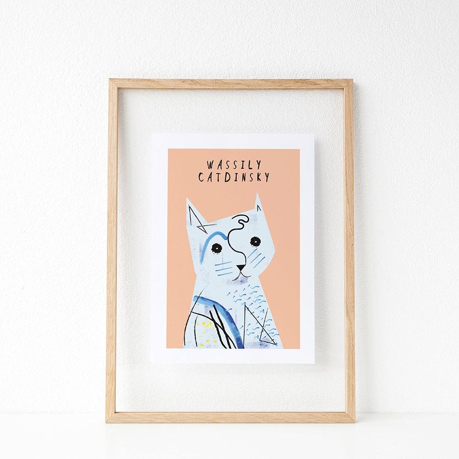 Charming Artist Cat Prints by Design Studio Niaski