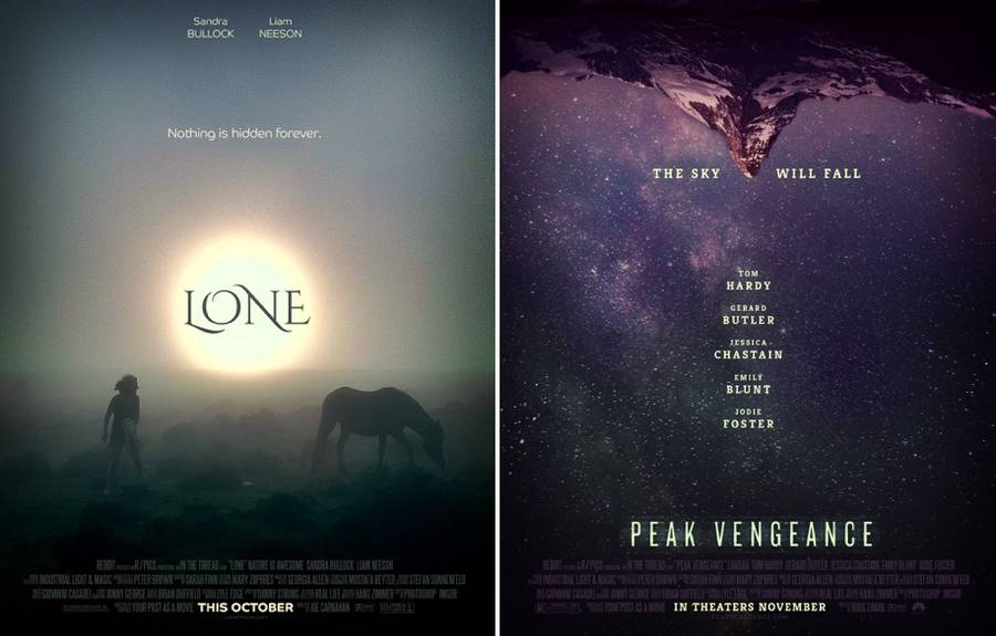 Imaginary Movie Posters Created with Reddit Posts