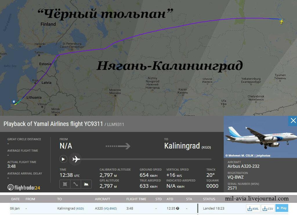 """""""Чёрный тюльпан"""" из Нягани в Калининград"""