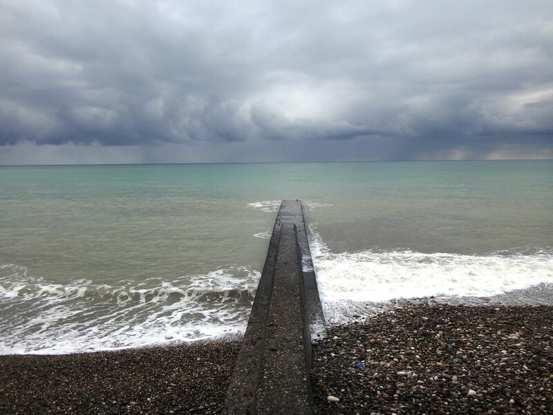 У моря Чёрного, в Абхазии, время зимнее, Новогоднее (16).JPG