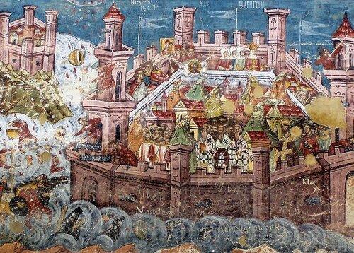 Воспоминание великого и страшного трясения (землетрясения), бывшего в  Царьграде (740)