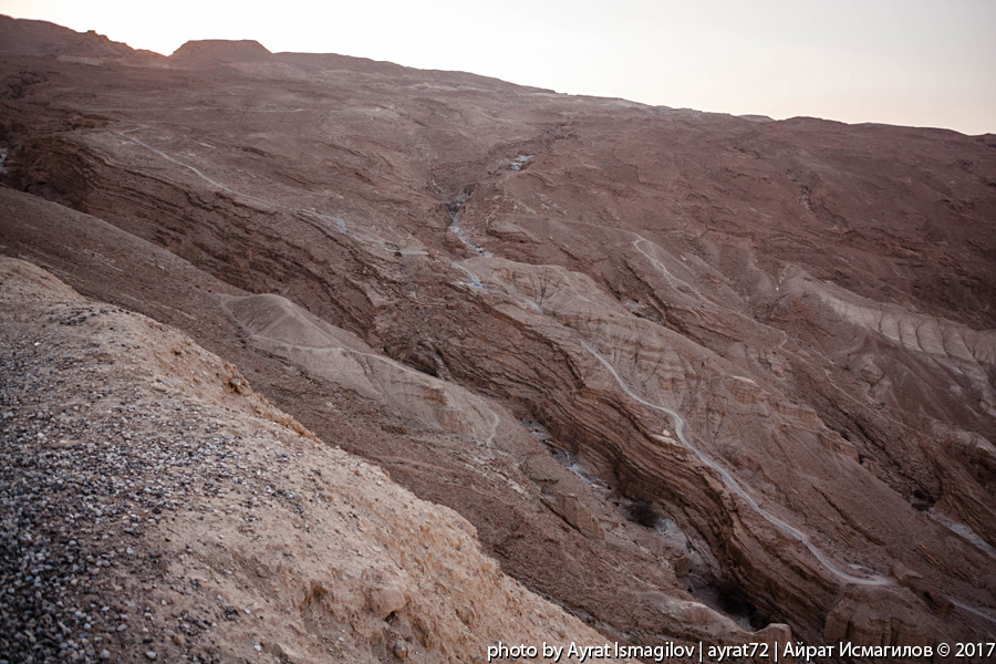 Дорога Мертвое море - Арад. Горные пейзажи -